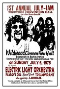July Jam Electric Light Orch. 1975 Wildwood Nj Convention Hall Poster Sign