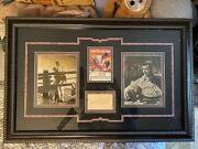 Signed Clark Gable With Photo And Gone With The Wind Poster