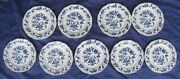 Lot 9 Blue Danube Japan Bread Plates Mixed Banner And Boxed Backstamps 1951-2000