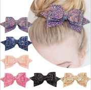25color Kids Girls Baby Glitter Shiny Sequin Bowknot Clips Hair Clip Bow Hairpin
