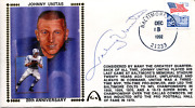 Johnny Unitas Autographed December 13th 1992 First Day Cover Jsa