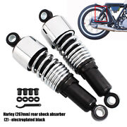 267mm 10.5motorcycle Shocks Air Absorbers Round Adjustable For Harley Universal