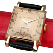 Vintage Jeager Lecoultre Watch Chiso Rose Gold 18k Funcy Lugs Genuine Dial C1940