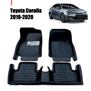 For Toyota Corolla 2019-2020 Car Front And Rear Floor Mat All-weather Liners Pads