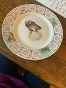 Vintage Unique K.t. And K. Porcelain Woman 1911 Calendar Plate With Free Shipping