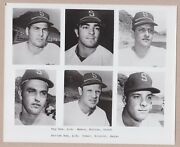 Lot Of 4 Different Vintage1969 And1970 Seattle Pilots Team Issued Bandw Photos