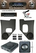 1955-1959 Chevy Truck Radio Kick Panels + Speakers + Free Aux Cable Stereo 230