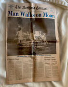 The Hartford Courant Ct July 21 1969 Man Walk On The Moon Newspaper 10 Pages
