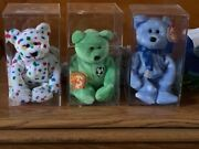 Ty Beanie Babies Rare. Ty 2k. 1999 Holiday Teddy. And Kicks All In Cases