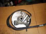 1986 86 Honda Ch80 Ch 80 Elite Scooter Front Brake Hub Plate With Cable