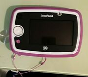 Leap Frog Leappad Leap Pad 3 With Stylus / 4 Games / Storage Case Pink Purple