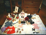 American Girl Doll Samantha Lot Clothing Shoes Outfits Desk Bed Accessories