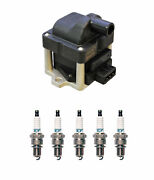 Denso Ignition Coil And 5 Iridium Tt Spark Plugs 0.040 Kit For Vw Eurovan 2.5 L5