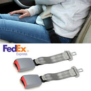 2pcs 14and039and039 Car Seat Seatbelt Adjustable Safety Belt Extension 7/8 Buckle Us Ship