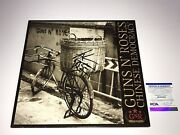 Guns N' Roses Axl Rose Signed Autographed Chinese Democracy Vinyl Record Psa Dna