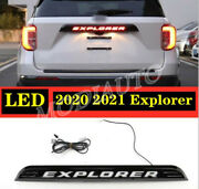 For Ford Explorer 2020-21 Accessories Black Rear Door Trunk Led Tail Light Cover