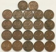 1937 Canada Small Cent Vf-xf Lot Of 22