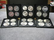 1976 Montreal Olympics 24 Coin Silver Set-set Very Nice. With Free Shipping