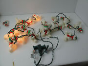 Vintage Lot Of 2 Christmas String Lights White Bears With Coca Cola Total 20