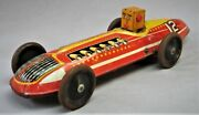 Vintage Custom Tin Toy -- Wind Up Marx No.12 Race Car With Robot Driver