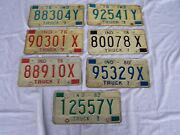 7 Indiana Truck License Plates 1975 - 1976 - 1978 - 1979 - 1980 - 1982