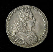 Russia Empire 1 Rouble 1727 Peter Ii Silver Rouble Km 182.1 Scarce Variety