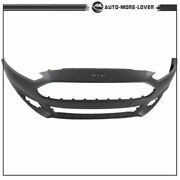 Primed Front Bumper Cover For 2013-2015 2016 Ford Fusion W/o Park Sensor Hole