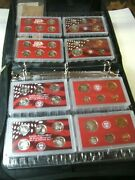 1999-2008 Complete Us Mint Silver Proof Sets Display Binder - No Boxes