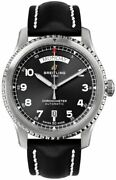 Breitling Aviator 8 Automatic Day And Date 41 Black Dial Menand039s Watch A45330101b1x1