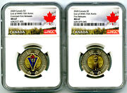 2020 2 Canada Ngc Ms67 Toonie V75 Ve-day Two Dollar Matched 2-coin Set Fr Top