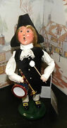 Byers Choice Williamsburg Colonial Holiday Boy With Drum 2013 Hang Tag