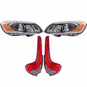 Valeo Front Hid Xenon Headlights And Rear Led Tail Lights Kit For Volvo Xc60 14-17
