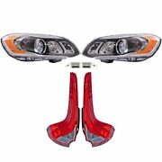 Valeo Front Xenon Headlights Hid W/ Ballast And Rear Led Taillights Kit For Xc60