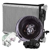 Valeo Hvac Blower Motor Resistor W/ Actuator And Heater Core Kit For Bmw F25 F26