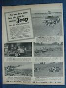 1947 Willys Jeep Ad Paying Investment For Farm Use 5 Farm Use Scenes