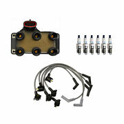 Denso Ignition Coil Wire Set 6 Double Platinum Spark Plugs Kit For Ford 3.0l V6