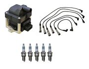 Denso Ignition Coil And Wire Set 5 Iridium Power Spark Plug Kit For Vw 2.5l L5