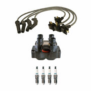 Denso Ignition Coil Wire Set 4 Iridiumtt Spark Plugs Kit For Ford Mercury 2.0 L4
