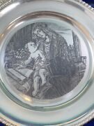 Sterling Silver Veneto Flair Plate Of The Madonna And Child Christmas 1972