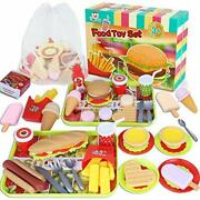 Fast Food Toysplay Food Toy Kitchen Pretend Play Accessories Including Hamburger