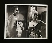 And039 Psycho And039 10x8 Signed By Anthony Perkins And Janet Leigh Very Nice Piece Coa.