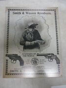 Smith And Wesson Revolvers Metal Sign Reproduction