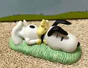 Htf Westland Giftware Peanuts Snoopy Laying Down With Woodstock 8337