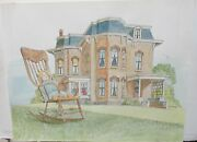 Jack Appleton Victorian House Limited Edition Hand Colored Lithograph