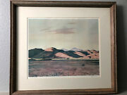 Peter Hurd The Big Pasture Print Pencil Signed Framed With Matte And Glass
