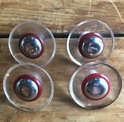 Four Deco Fifty's Knobs Pulls Modernist Mid-century Mcm