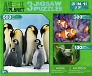 Animal Planet 3 In 1 Penguins Clown Fish Tree Frog