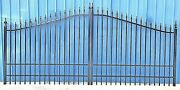 Home Security Wrought Iron Driveway Gate 14and039 Wd Steel Yard