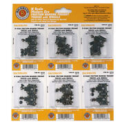Bachmann 42536 Friction-bearing Freight Trucks W/ Wheels Pack Of 6 N Scale