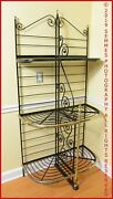Antique French Iron And Brass Trim Bakers Rack 19th Century Paris France Pu Only